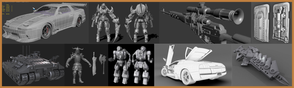 3d High poly modeling