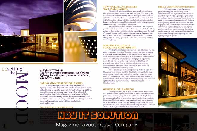 Nby It Solution Magazine Layout Design