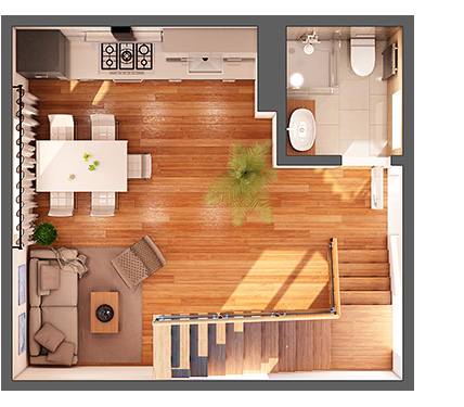 3D Interior visualization By NBYIT 3D Modeling Service