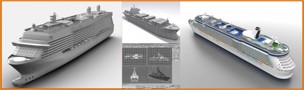 3d Ship Modeling services