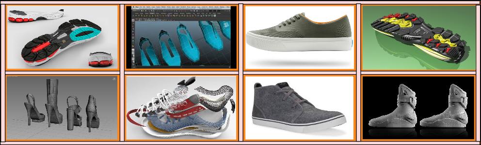 3d footwear modeling services