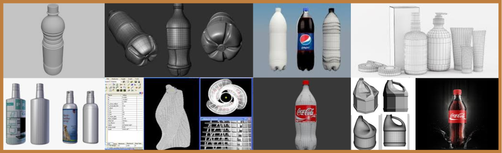 3d visualization of the bottle