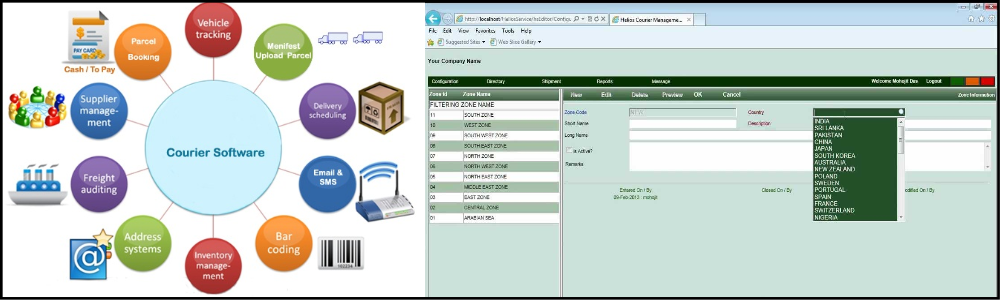 Courier Service Software